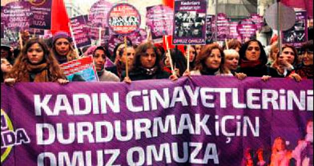 Kadınlardan cinayeti durduracağız eylemi