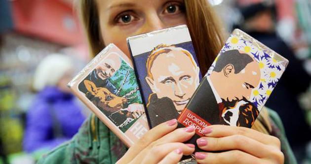Vladimir Putin'i çikolata yaptılar!