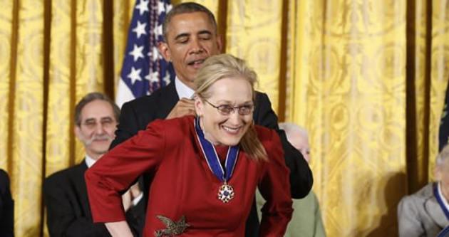 Meryl Streep Özgürlük Madalyası'nı kazandı