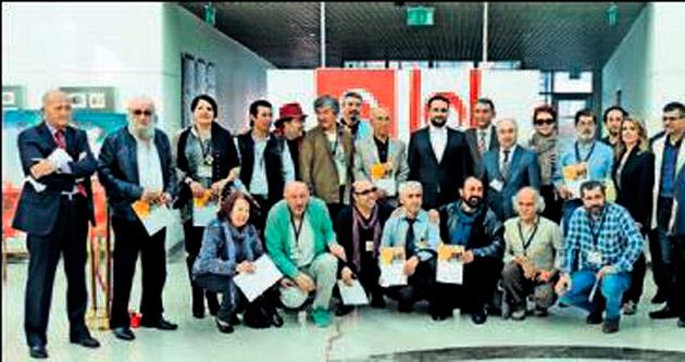 YDÜ'de uluslararası resim çalıştayı sergisi