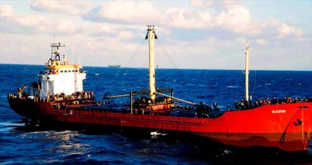Sürüklenen gemide 700 kaçak