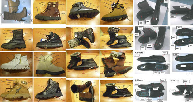 Bakanlık zehirli ayakkabıların fotoğrafını yayınladı