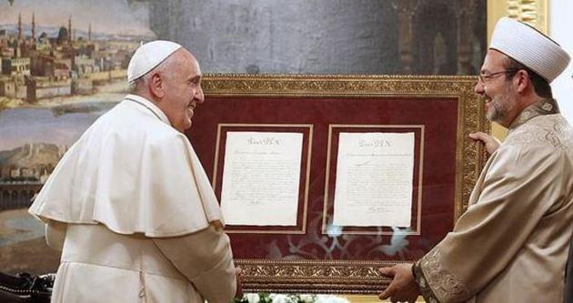 Görmez'den Papa'ya tarihi mektup!