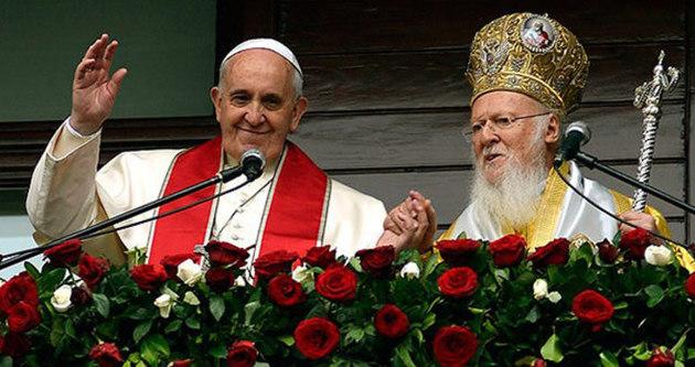 Papa ve Patrik'ten ortak bildiri