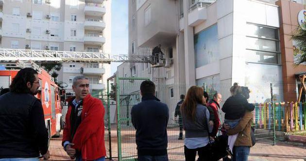 Antalya'da anaokulunda patlama