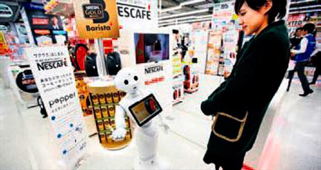 Satış temsilcisi robot