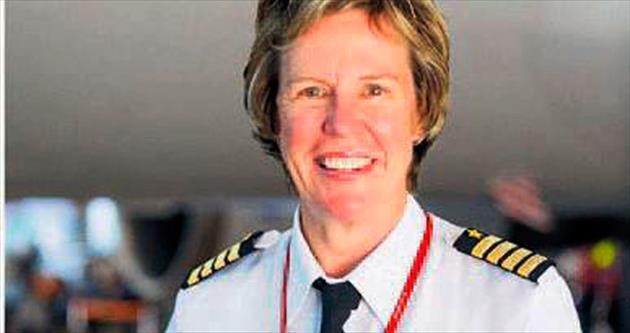 Jetstar'ın baş pilot koltuğunda bir kadın