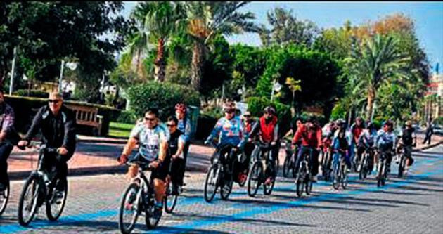 Bisiklet sevdalıları Alanya'da buluştu