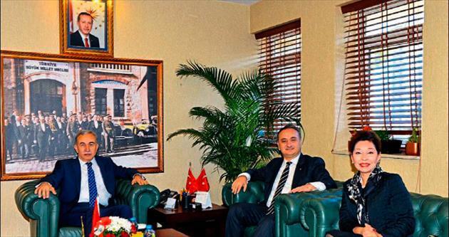 TED yöneticileri Adana Valisi Büyük'ü ziyaret etti
