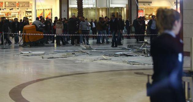 Diyarbakır'da AVM'nin tavanı çöktü