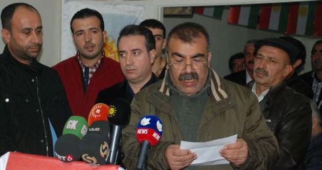 Kürdistan bayrakları ile greve başladılar