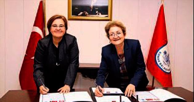 Kadın başkanlardan kardeş şehir imzası