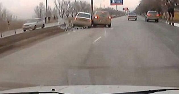 Rus kadının aracıyla tehlikeli intikamı