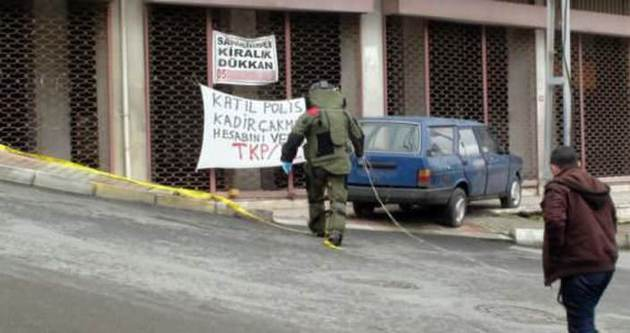 Maltepe'de bombalı paket paniği