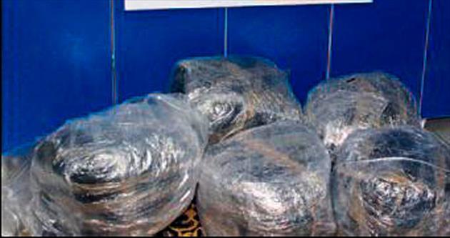 Minibüste 60 kilo esrara 2 tutuklama