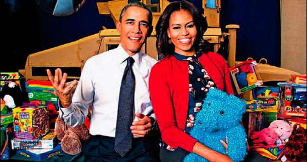 Barack'ı vale, Michelle'i garson zannetmişler