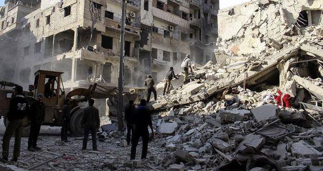 Suriye ordusundan vakkum bombalı saldırı