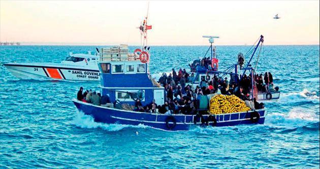 2 teknede 241 kaçak
