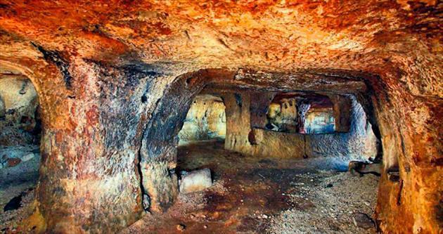TOKİ Nevşehir'de yeraltı şehri buldu