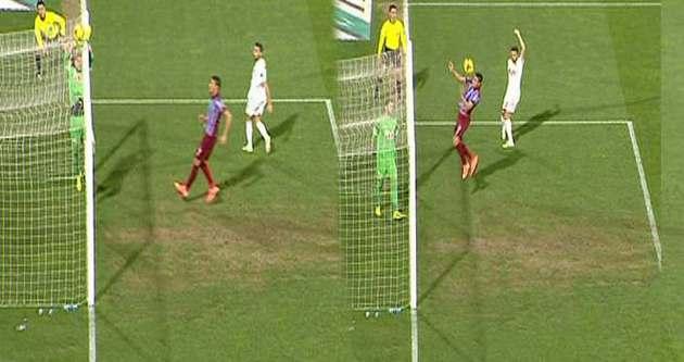 Trabzonspor maçında ilginç olay