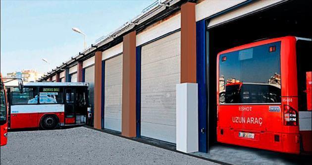 ESHOT'un garaj kapıları Beta'dan