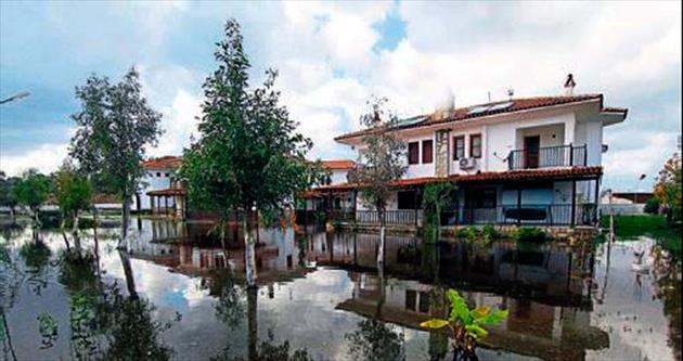 Fethiye'de yazlıklara su baskını
