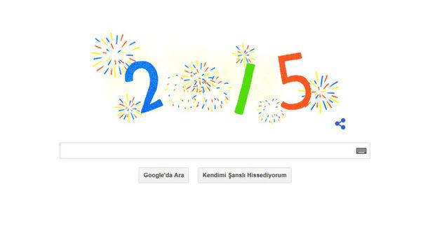 Yeni Yıl 2015 doodle oldu! İşte yılbaşı doodle'ı!