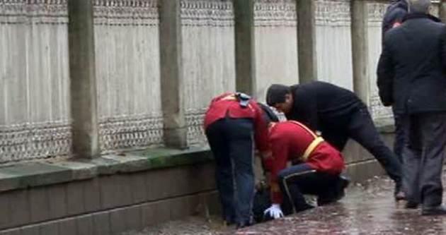 Dolmabahçe'de bombalı saldırgan paniği