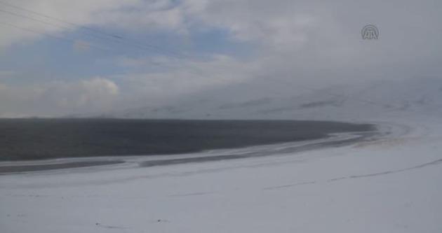 Balık Gölü kısmen dondu