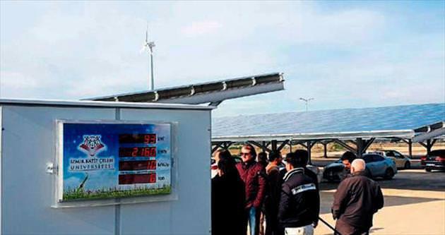 İKÇÜ rüzgar ve güneş enerji santrali kurdu
