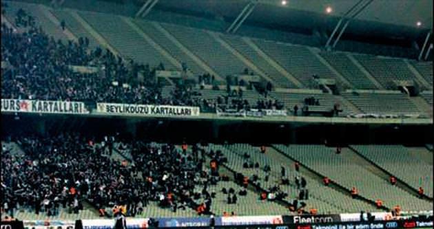 Beşiktaş taraftarı yine ilgi göstermedi