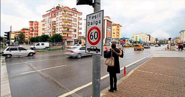 Trafikte yeşil dalga tasarrufu