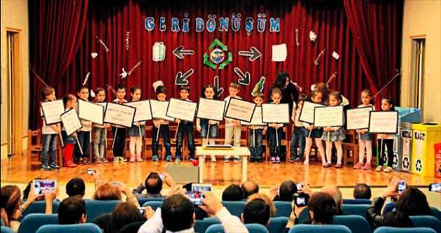 Minik öğrencilere verilen bilim eğitimleri tamamlandı
