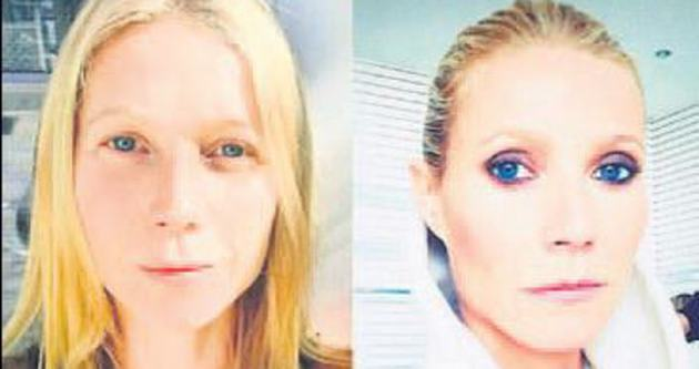 Makyajdan önce ve sonra özçekim