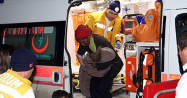 Çorum'da soba yangını:4 yaralı