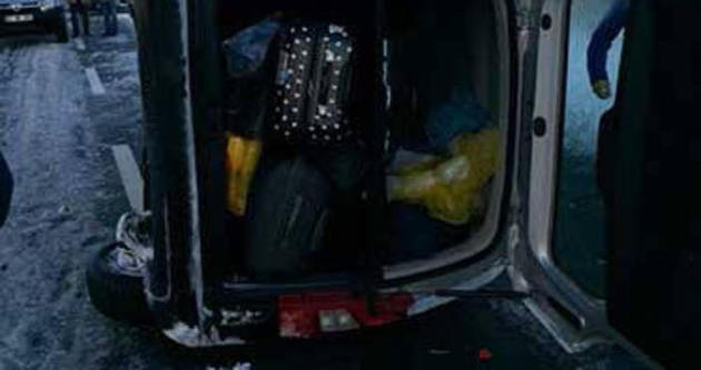 Sercan Kaya kaza geçirdi