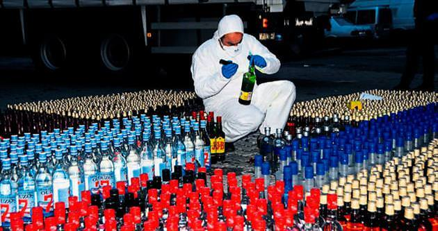 10 bin şişe kaçak içki ele geçirildi