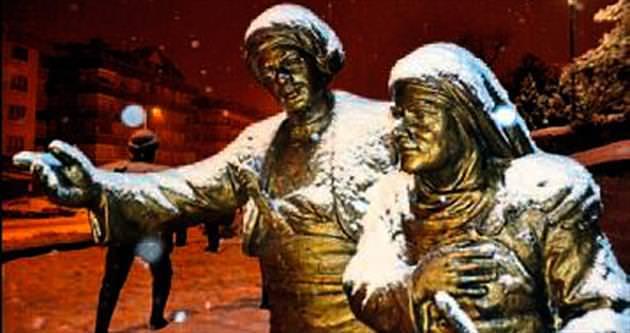 Ankara'da önceki gece kar yağdı