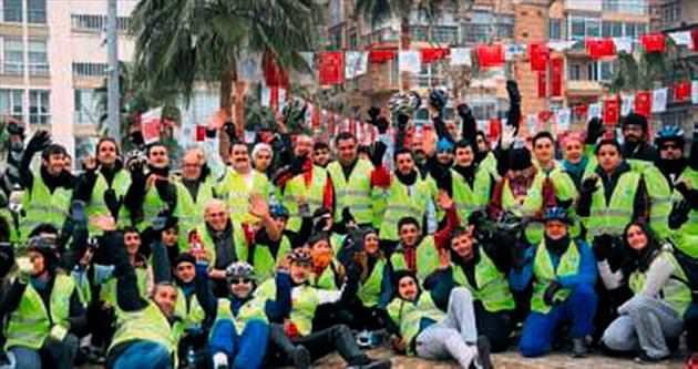 Mersin kurtuluşunu bisiklet turuyla kutladı