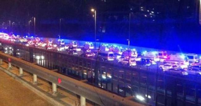 Boğaziçi Köprüsü'nden geçen ambulanslar korkuttu