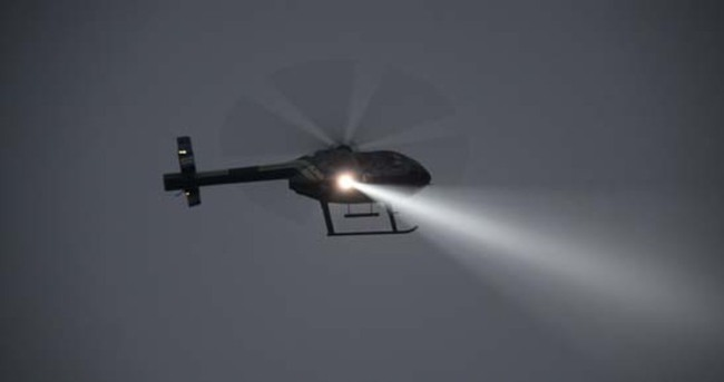 Zeytinburnu'nda helikopterli operasyon