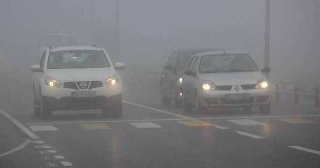Sakarya'da ulaşıma sis engeli