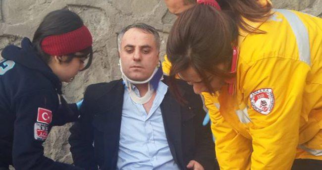 MHP Genel Merkezi'nde Akit muhabirine dayak
