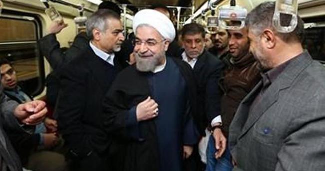 Ruhani ofisine metroyla gitti
