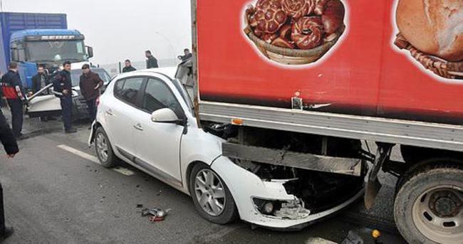 Bursa'da 7 araç birbirine girdi