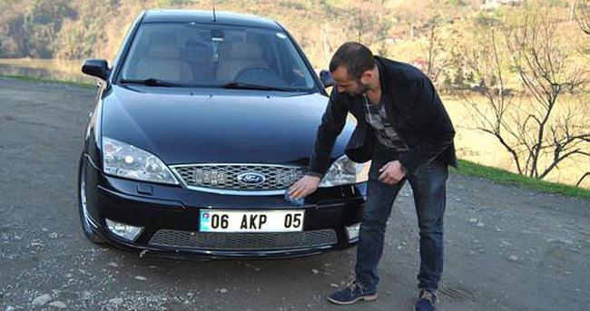 06 AKP 05 plakasına 60 bin lira istiyor