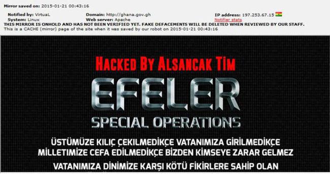 Türkler Gana'yı hackledi!