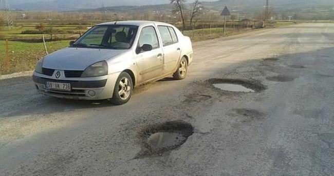 Köy yolları tehlike saçıyor
