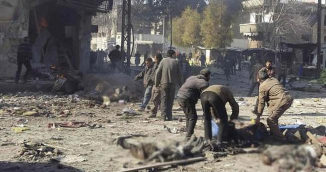 Esad pazar yerini bombaladı: 60 ölü