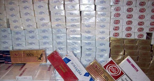 Aksaray'da kiralık arabadan 5 bin paket kaçak sigara çıktı